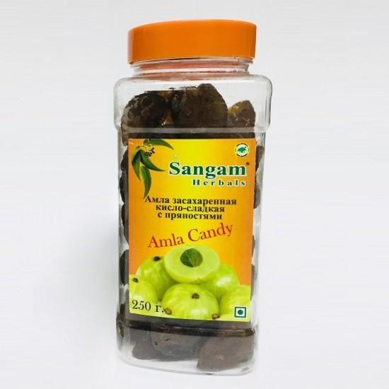 Амла засахаренная кисло-сладка с пряностями (Сангам Хербалс) 250г.