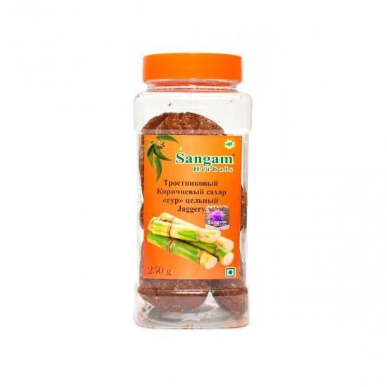 Сахар Гур цельный тросниковый Sangam Herbals